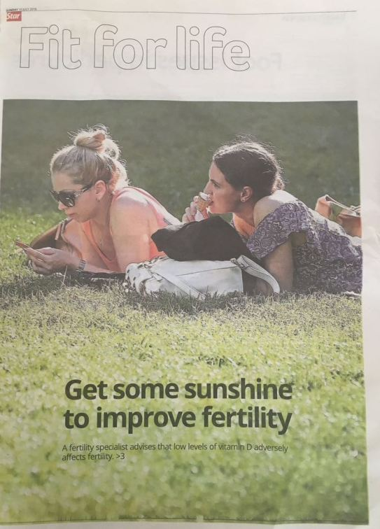 Vitamin D article The Star pg 1